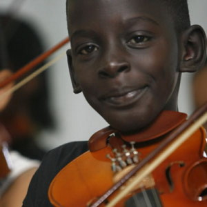 Youth Playing the Violin